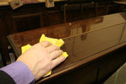 polishing piano